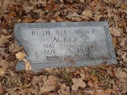 Ruth <i>Alexander</i> Acker