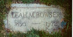 Leah <i>Garrison</i> Bowser