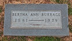 Bertha Ann <i>Glasson</i> Burrage