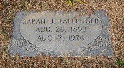 Sarah Jane <i>Black</i> Ballenger