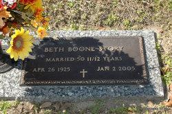 Annie Elizabeth Beth <i>Boone</i> Story