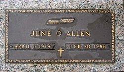 June <i>O'Gara</i> Allen