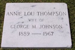 Annie Lou <i>Thompson</i> Johnson