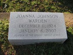Joanna <i>Johnson</i> Warden