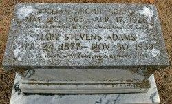 Mary <i>Stevens</i> Adams