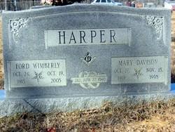 Mary <i>Davison</i> Harper
