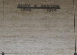 Ruby Alice <i>Simpson</i> Benson
