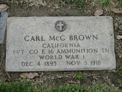 Pvt Carl McClellan Brown