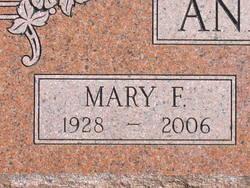 Mary F. <i>Taylor</i> Anderson