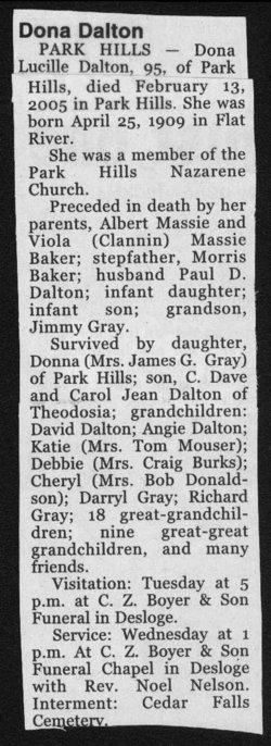 Dona Lucille <i>Baker</i> Dalton
