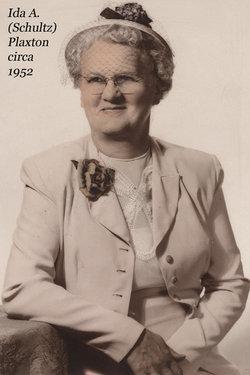 Ida Alvina <i>Schultz</i> Plaxton