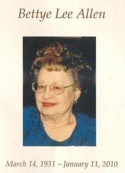 Bettye Lee <i>Oden</i> Allen