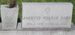 Janette <i>Nelson</i> Barb
