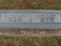 Bertha W <i>Goyer</i> Gieber-Cunningham