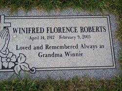 Winifred Florence Grandma Winnie <i>Canham</i> Roberts