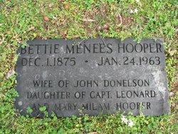 Elizabeth Menees Bettie <i>Hooper</i> Donelson