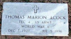 Marion Thomas Acock