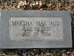 Martha Mae Aud