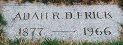Adah Rachael <i>Dintinger</i> Frick