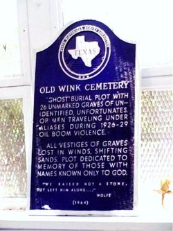 Old Wink Cemetery