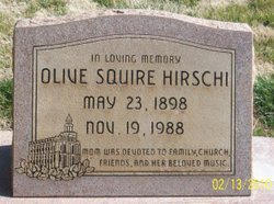 Olive <i>Squire</i> Hirschi