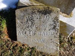 Mary M. <i>Harwood</i> Barbee