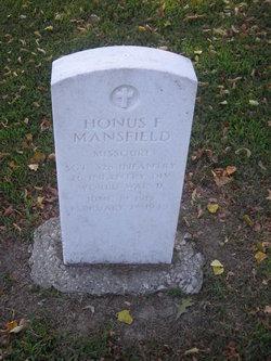 Sgt Honus F. Mansfield