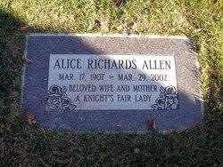 Alice <i>Richards</i> Allen