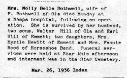 Mary Belle Molly <i>Thorton</i> Bothwell