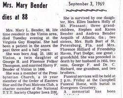Mary L <i>Felker</i> Bender