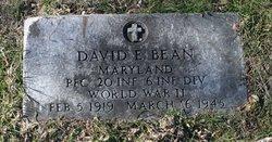 PFC David Edmond Bean