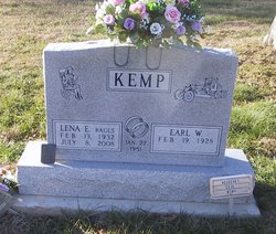 Lena E <i>Rauls</i> Kemp