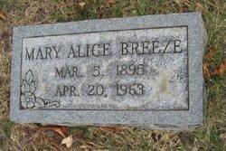 Mary Alice <i>Garrett</i> Breeze