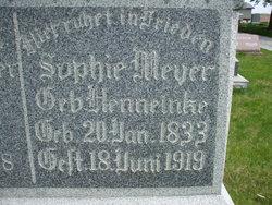Sophie Katherine Rebecca <i>Henneinke</i> Meyer
