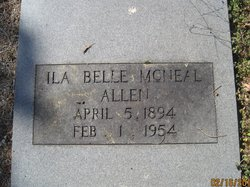 Ila Belle <i>McNeal</i> Allen