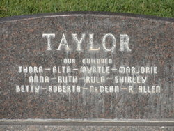 Myrtle Elizabeth <i>Peterson</i> Taylor