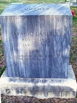 Sarah C <i>West</i> Cantrell
