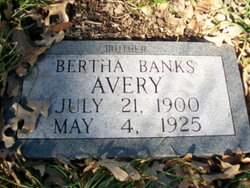 Bertha <i>Banks</i> Avery
