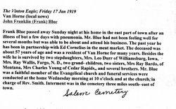 John Franklin Frank Blue