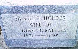 Sallie F <i>Holder</i> Battles
