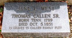 Jane C. <i>West</i> Callen