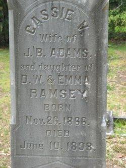 Cassie V <i>Ramsey</i> Adams