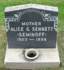Alice Nicholas <i>Seminoff</i> Sennett