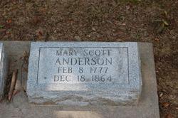 Mary <i>Scott</i> Anderson