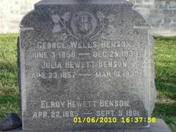 Julia <i>Hewett</i> Benson