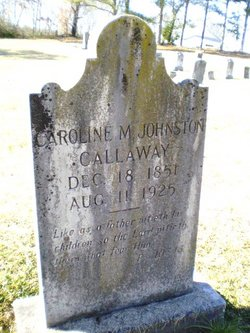 Caroline <i>Johnston</i> Callaway