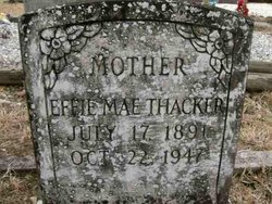 Effie Mae <i>Couch</i> Thacker