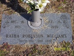 Ratha <i>Robinson</i> Williams
