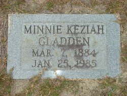 Minnie Keziah Gladden