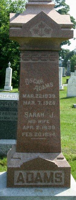 Mrs Sarah Jane <i>Geer</i> Adams
